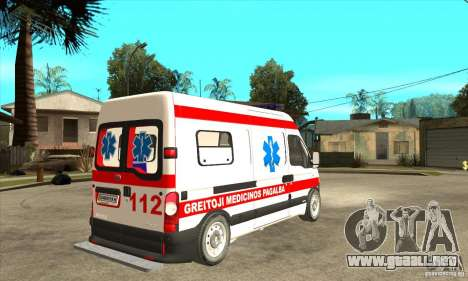 Renault Master Ambulance para la visión correcta GTA San Andreas