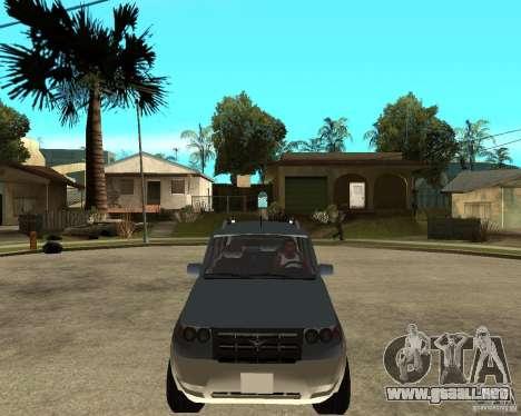 UAZ Patriot 4 x 4 para GTA San Andreas vista hacia atrás