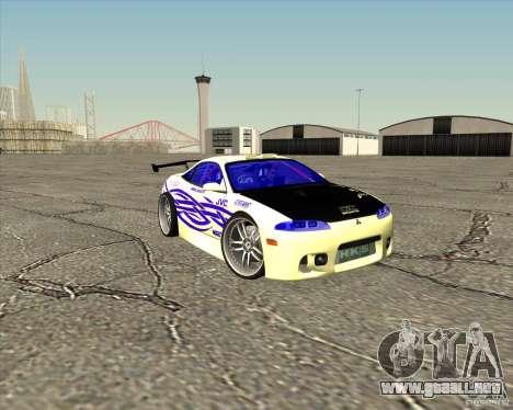 Mitsubishi Eclipse street tuning para vista inferior GTA San Andreas