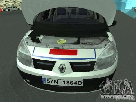 Renault Scenic II Police para visión interna GTA San Andreas
