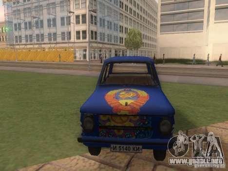 Hippie ZAZ para GTA San Andreas vista hacia atrás