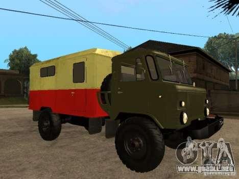 GAZ 66 para la visión correcta GTA San Andreas