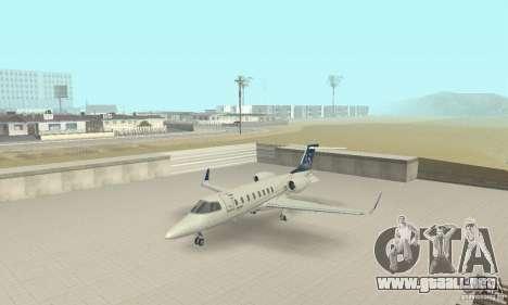 Bombardier Leardjet 45XR para GTA San Andreas