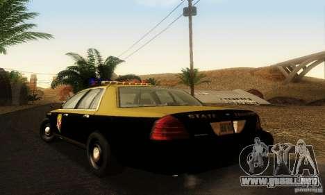 Ford Crown Victoria Maryland Police para GTA San Andreas left
