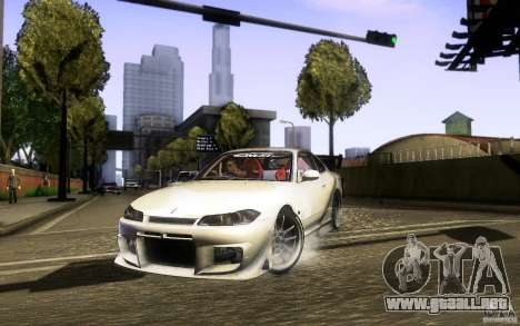 Nissan Silvia S15 Drift Style para GTA San Andreas vista hacia atrás