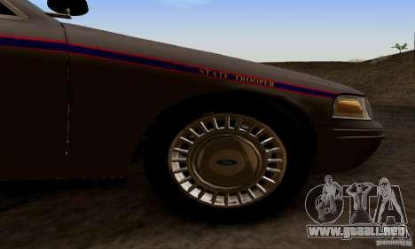 Ford Crown Victoria Mississippi Police para la visión correcta GTA San Andreas