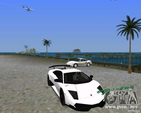 Lamborghini Murcielago LP670-4 SV para GTA Vice City