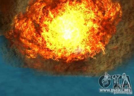 Nuevos efectos de explosiones para GTA San Andreas novena de pantalla