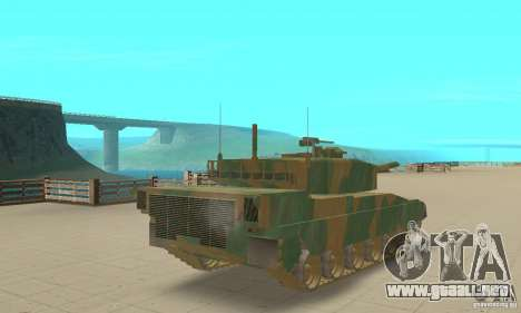 JGSDF Type90 tanque para GTA San Andreas left