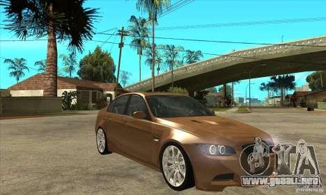BMW E90 M3 para GTA San Andreas vista hacia atrás
