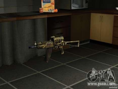 Pak versión doméstica armas 4 para GTA San Andreas sucesivamente de pantalla