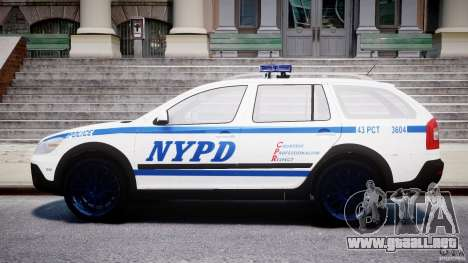 Skoda Octavia Scout NYPD [ELS] para GTA 4 vista lateral