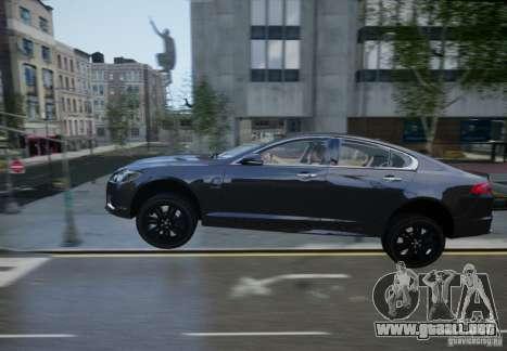 Jaguar XFR 2010 V.2.0 para GTA 4 vista desde abajo