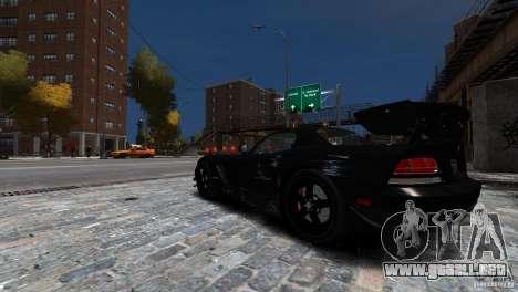 Dodge Viper SRT-10 ACR 2009 para GTA 4 vista superior