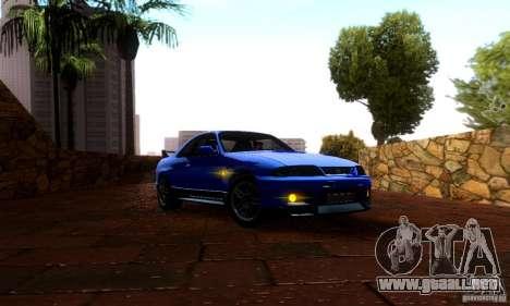 Nissan Skyline GT-R R-33 v2.0 para GTA San Andreas vista posterior izquierda