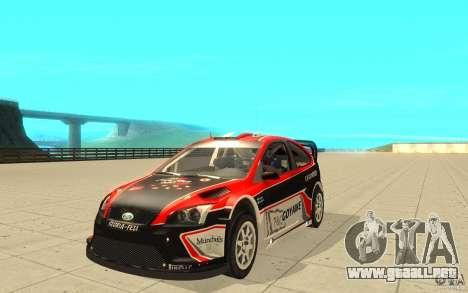 Ford Focus RS WRC 08 para vista inferior GTA San Andreas