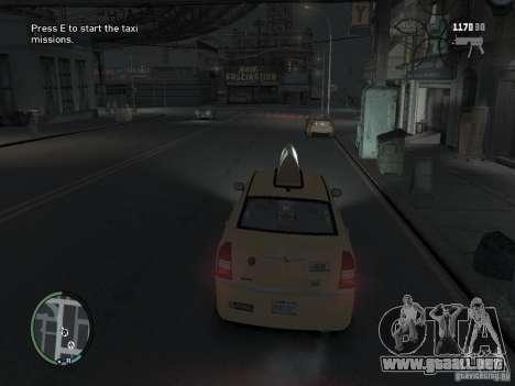 La misión de taxista para GTA 4 para GTA 4 segundos de pantalla