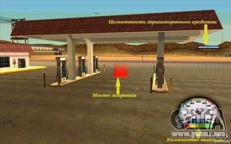 New Speedometer no transmissions para GTA San Andreas segunda pantalla