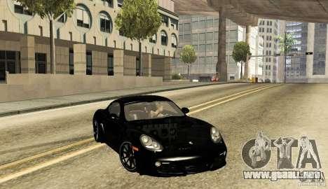 Porsche Cayman R para GTA San Andreas vista posterior izquierda