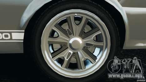 Shelby GT 500 Eleanor v2.0 para GTA 4 vista superior