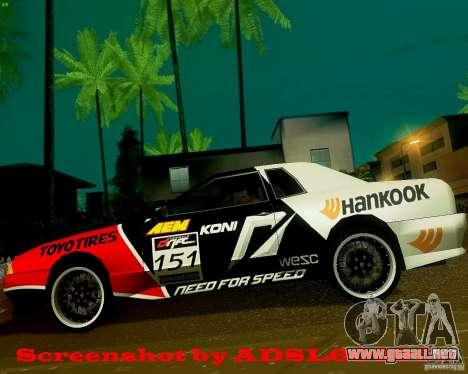 Need for Speed Elegy para GTA San Andreas left