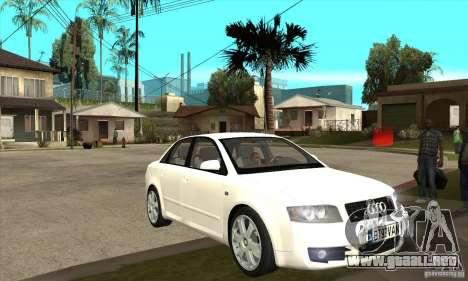 Audi S4 2004 para GTA San Andreas vista hacia atrás