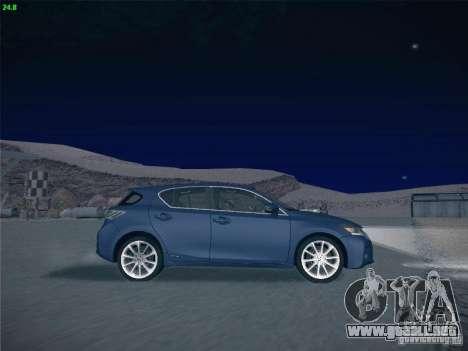Lexus CT200H 2012 para la vista superior GTA San Andreas