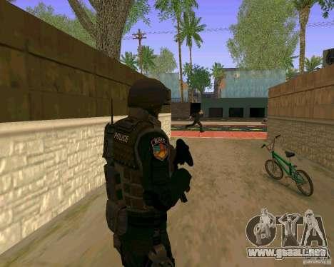 La piel de las fuerzas especiales ucranianas para GTA San Andreas sucesivamente de pantalla