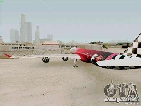 Airbus A-340-600 Formula 1 para la visión correcta GTA San Andreas