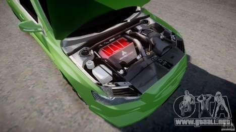 Mitsubishi Lancer Evolution X Tuning para GTA 4 vista hacia atrás