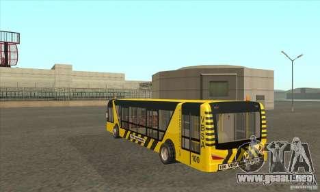 Autobús al aeropuerto para GTA San Andreas vista posterior izquierda