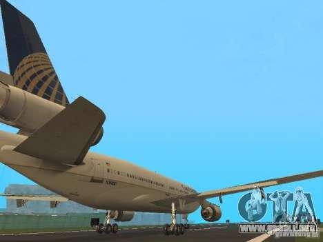 McDonell Douglas DC10 Continental Airlines para la visión correcta GTA San Andreas