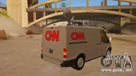 Ford Transit CNN para la visión correcta GTA San Andreas