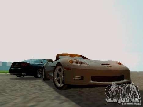 Chevrolet Corvette C6 GS Convertible 2012 para GTA San Andreas vista hacia atrás
