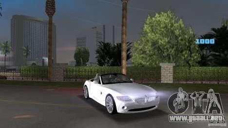 BMW Z4 2004 para GTA Vice City vista posterior