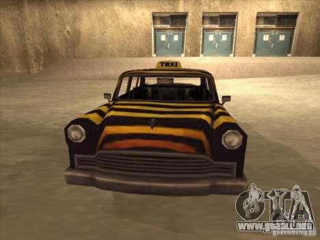 Taxi cebra de Vice City para GTA San Andreas vista posterior izquierda