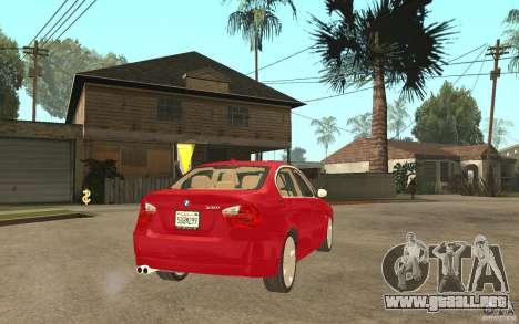 BMW 330i E90 v.2.0 para la visión correcta GTA San Andreas