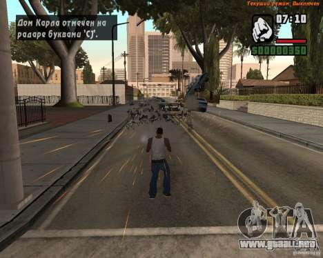 Súper patada para GTA San Andreas tercera pantalla