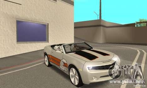 Chevrolet Camaro Concept 2007 para vista inferior GTA San Andreas