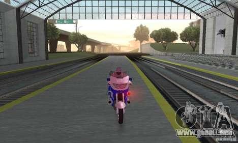 Motocicleta de la policía rusa para la visión correcta GTA San Andreas