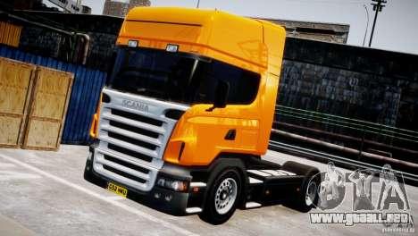 Scania R500 para GTA 4 vista hacia atrás