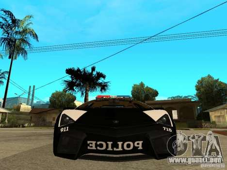 Lamborghini Reventon The Speed Enforcer para la visión correcta GTA San Andreas