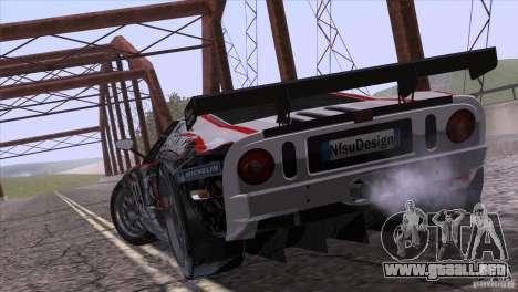 Ford GT Matech GT3 Series para GTA San Andreas vista hacia atrás