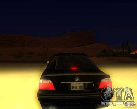 BMW 750i e38 2001 M-Packet para GTA San Andreas left