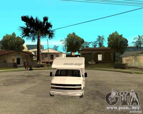 Chevrolet Camper para GTA San Andreas vista hacia atrás