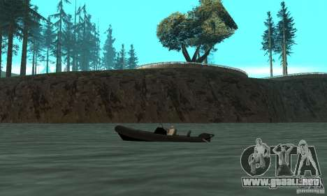 GTAIV Dinghy para GTA San Andreas left