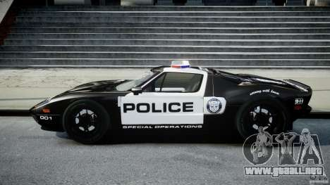 Ford GT1000 Hennessey Police 2006 [EPM][ELS] para GTA 4 left