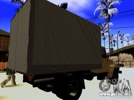 GAZ 3309 para vista lateral GTA San Andreas