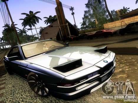 BMW 850 CSI para GTA San Andreas vista hacia atrás