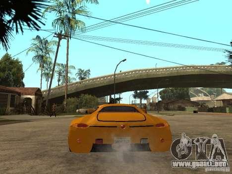 Gillet Vertigo para GTA San Andreas vista posterior izquierda